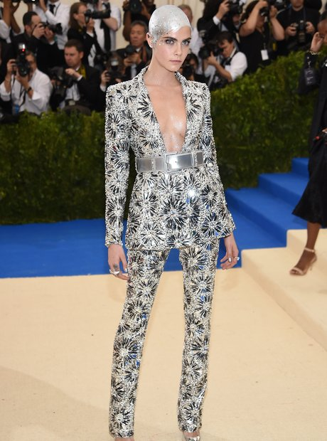 Cara Delevingne at the Met Gala 2017