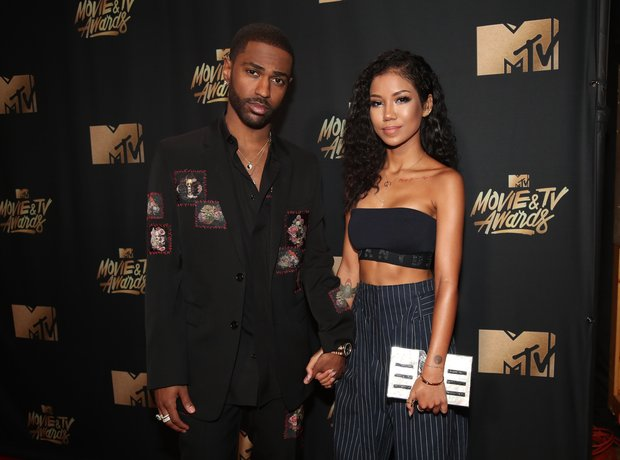Big Sean and Jhene Aiko at the MTV Movie Awards