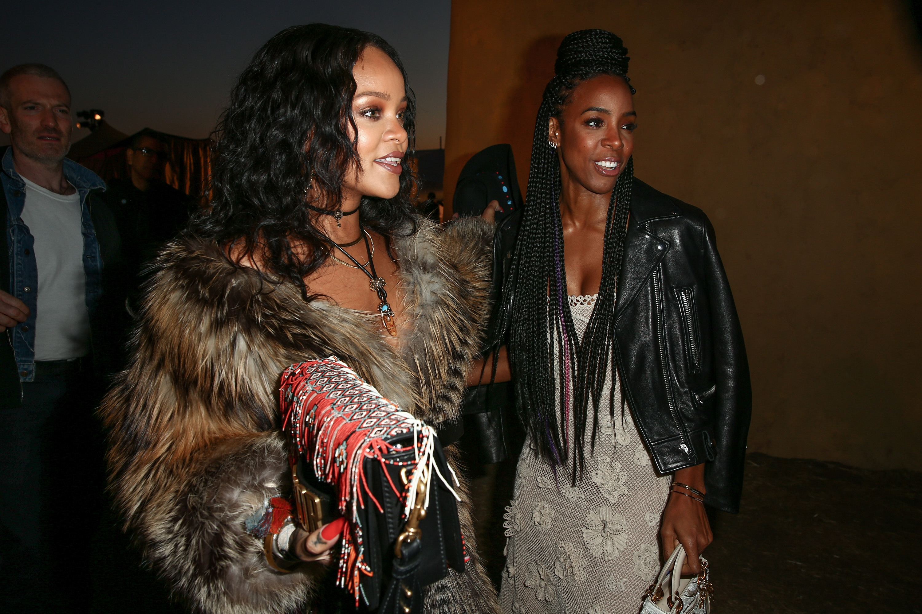 Rihanna and Kelly Rowland at Dior Show