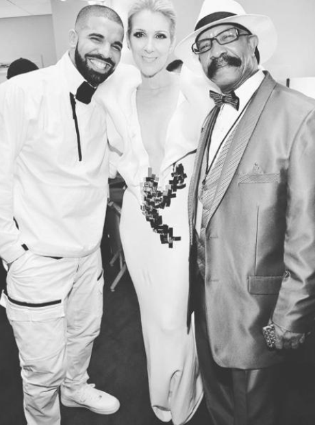 Drake, Celine Dion and Dennis Graham