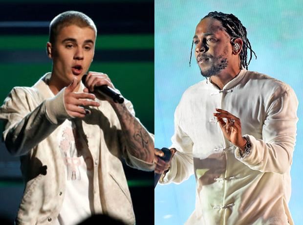 Justin Bieber and Kendrick Lamar