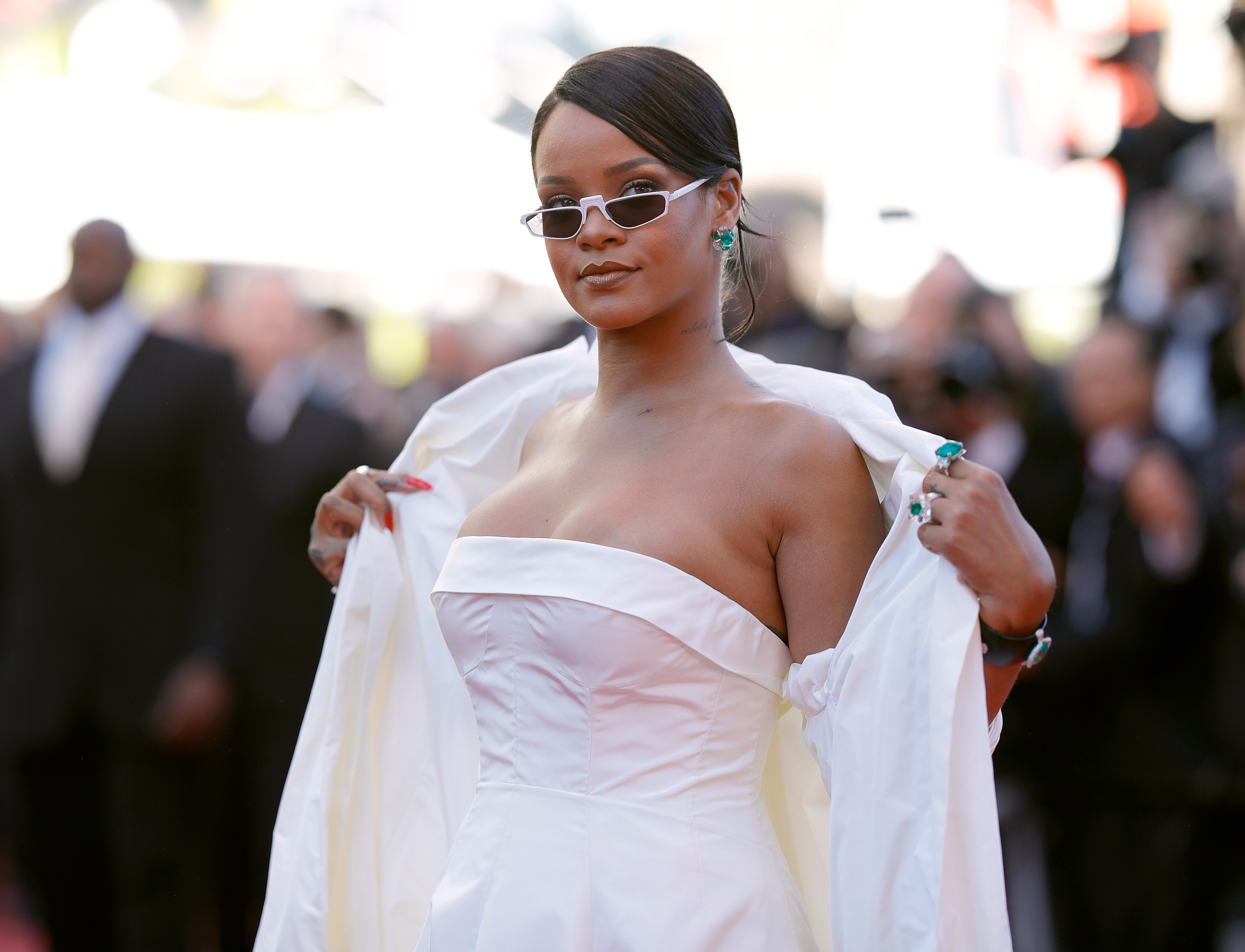 Rihanna attends the 'Okja' screening Cannes