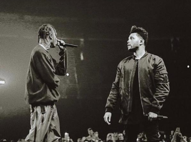 The Weeknd and Travis Scott