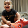 Image 9: Asahd Khaled with his dad's 'Grateful' Air Jordans