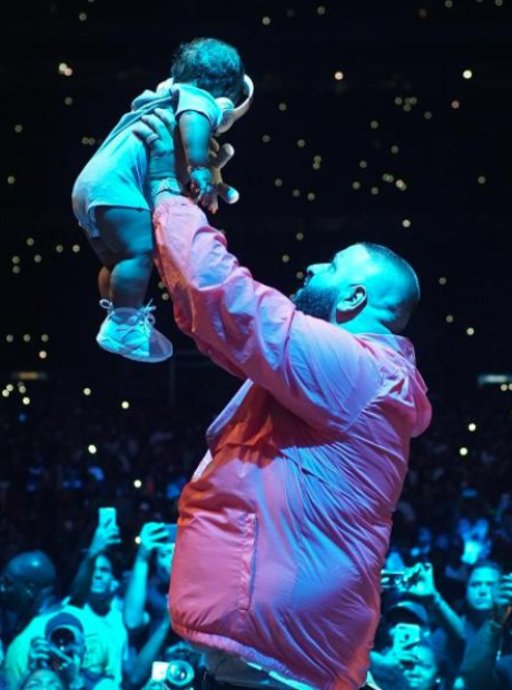 DJ Khaled and his son Asahd Khaled