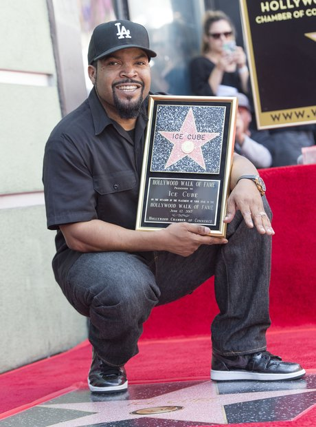 Ice Cube at the unveiling of his Hollywood Star