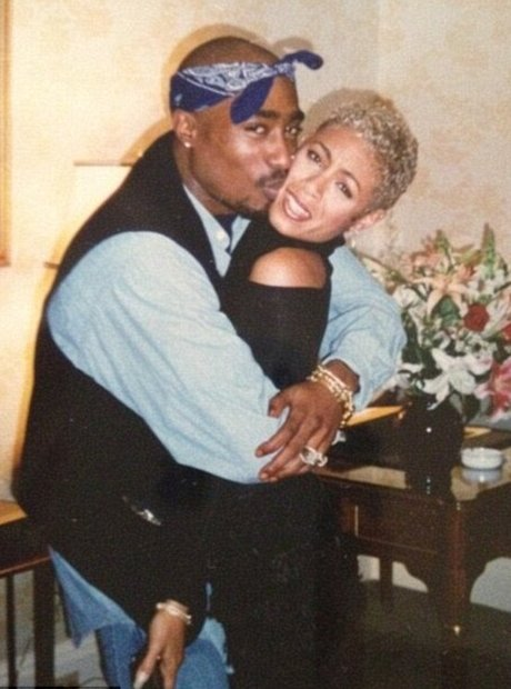 Tupac and Jada Pinkett