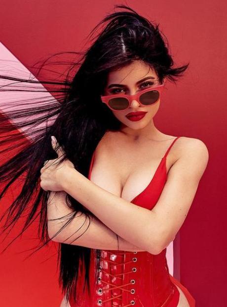 Kylie Jenner sunglasses shoot