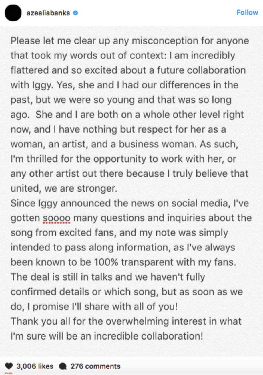Azealia Banks Reveals Why She Squashed Iggy Azalea Beef - Capital XTRA