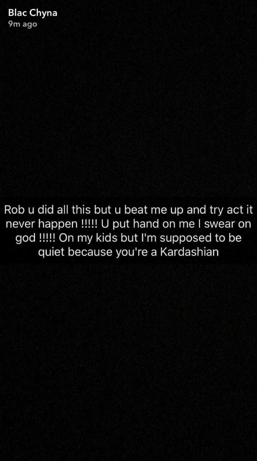 Blac Chyna Snapchat