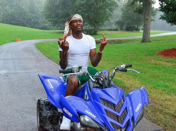Meek Mill on a quad bike