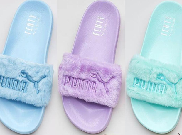 Rihanna Fur Slides New Colours