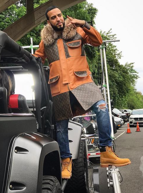 French Montana LV coat