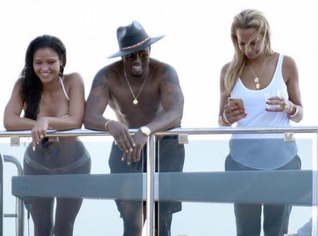 Diddy on a yacht