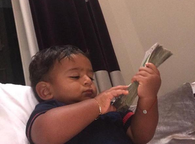 Asahd Khaled stacking that dollar