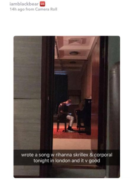 Rihanna Skrillex Blackbear Song Snapchat