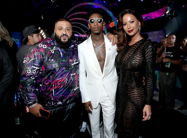 DJ Khaled, 21 Savage and Amber Rose at the MTV VMA