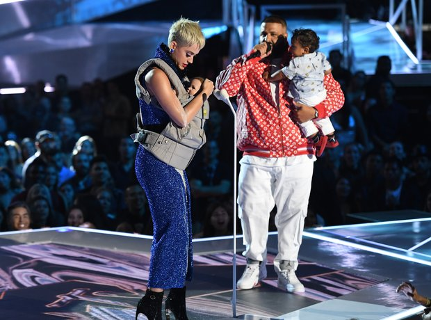 DJ Khaled and his son Asahd with Katy Perry