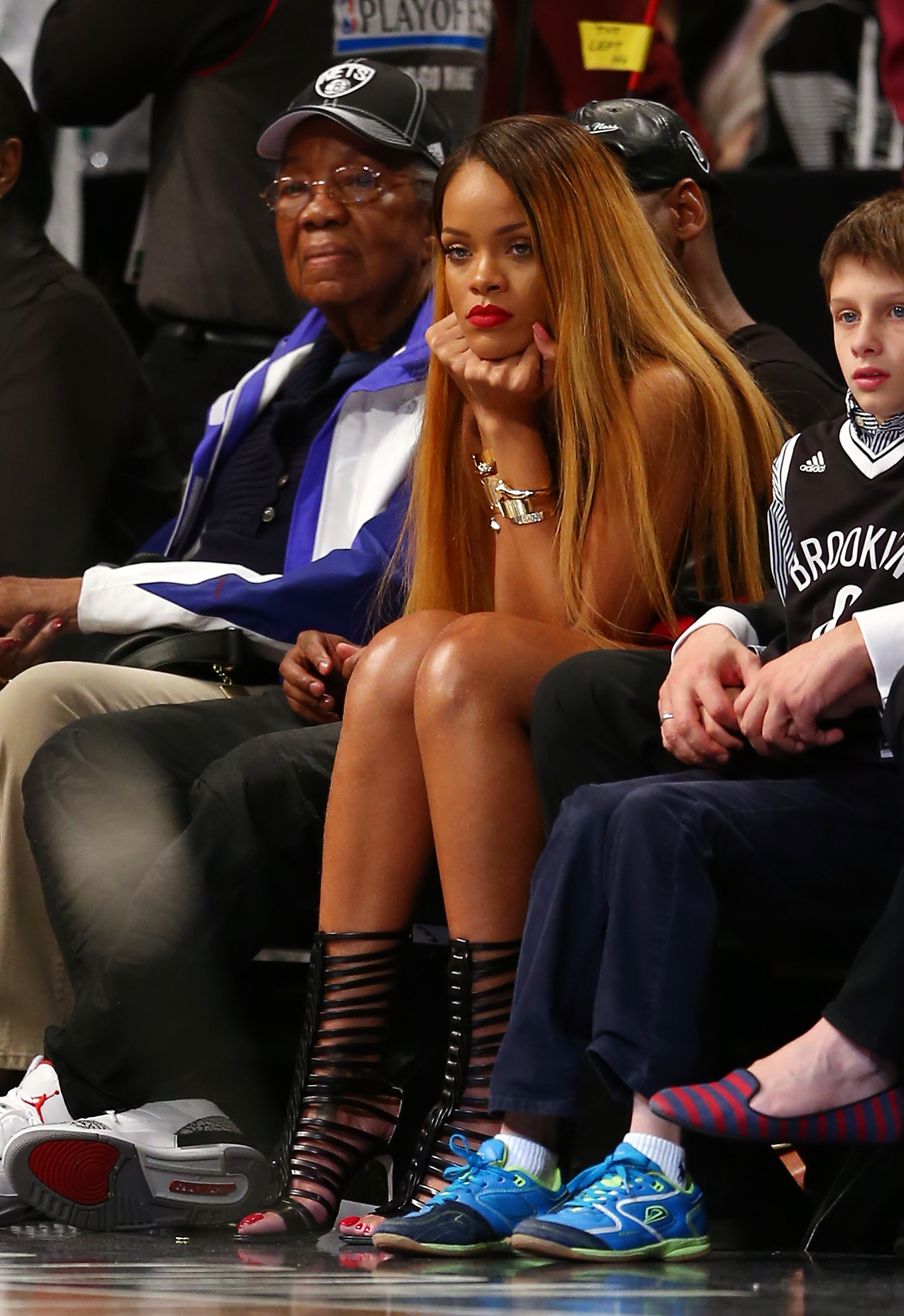 Rihanna Courtside Expressions