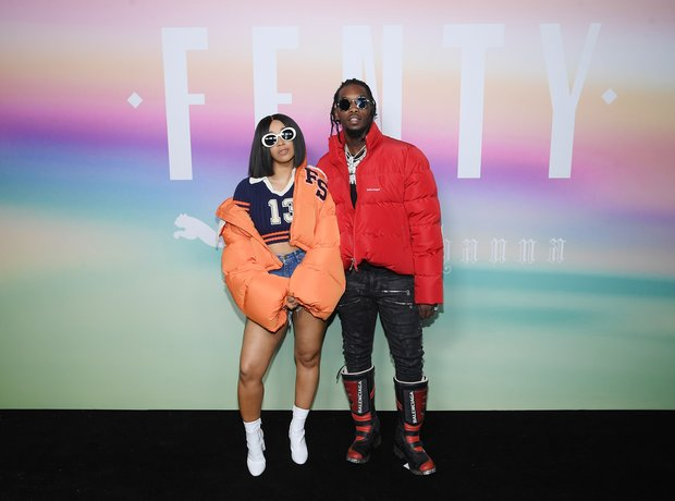 Cardi B and Offset and the Fenty X Puma S/S17 fash
