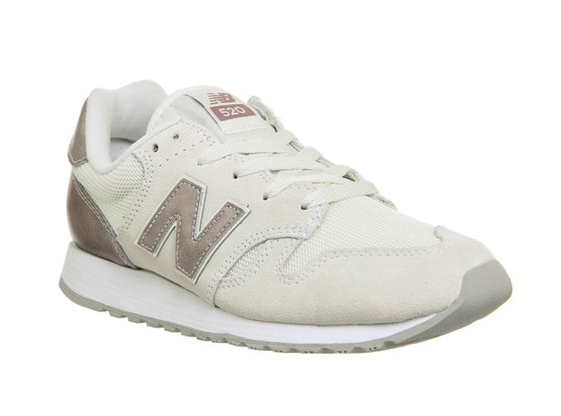 New Balance Wl520s White Grey Silver