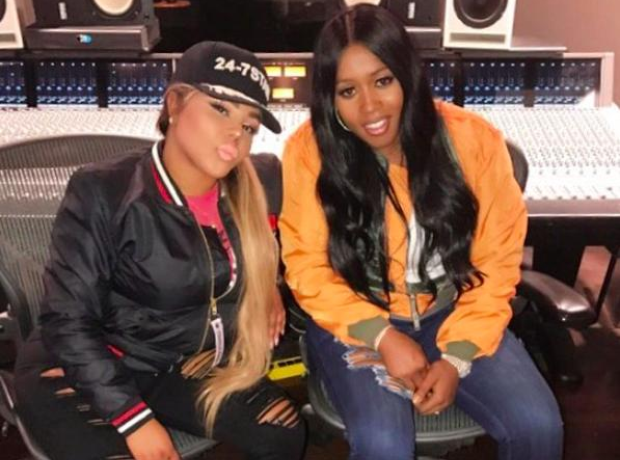 Remy Ma and Lil Kim in the studio together