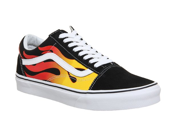 Vans Old Skool With Flame