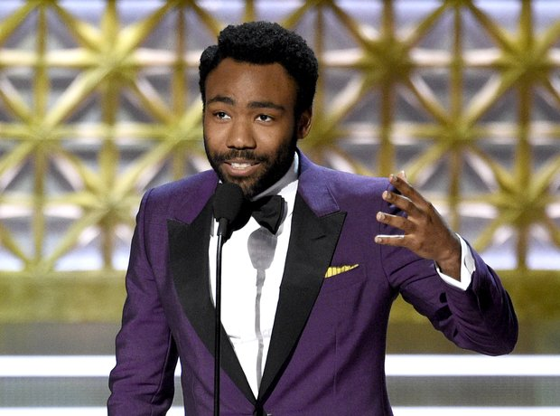 Donald Glover at the 2017 Emmy Awards.