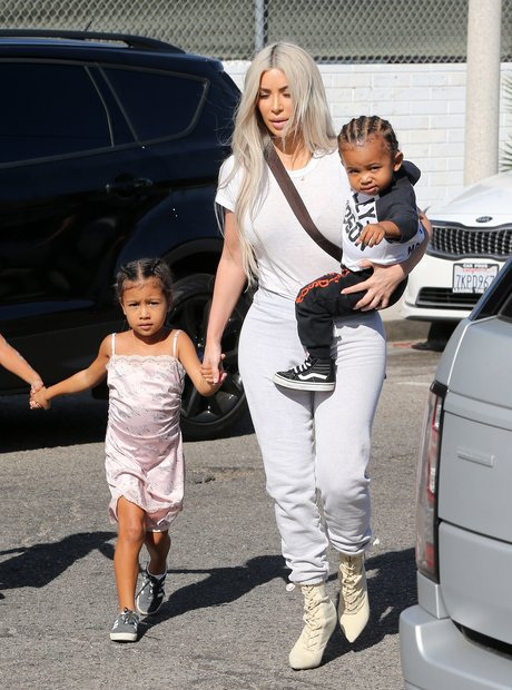 Kim Kardashian West with children North and Saint