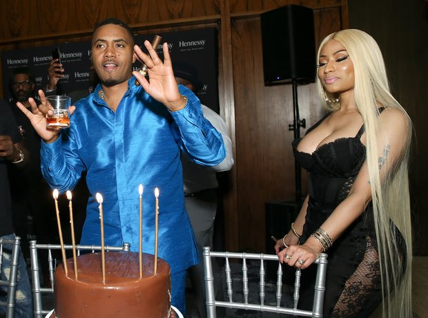 Nas and Nicki Minaj attend Nas' private birthday