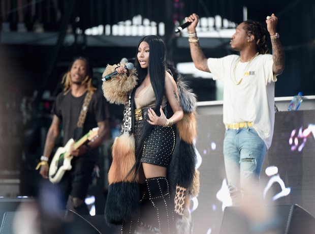 Nicki Minaj on stage with Future