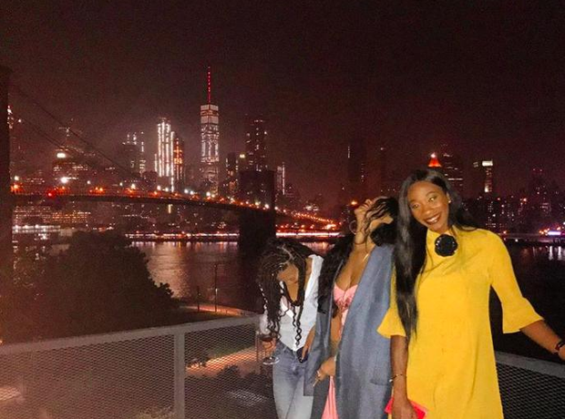 Rihanna and her friends on a girls night out in Ne