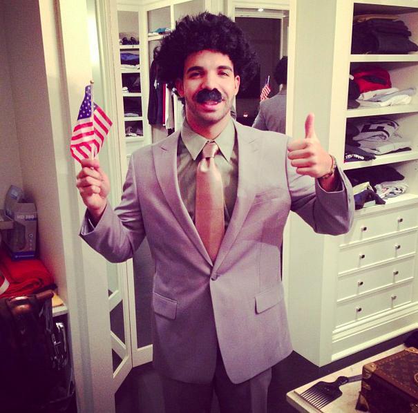 Drake as Borat