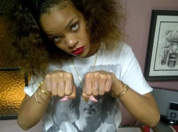 Rihanna 'Thug Life' tattoo