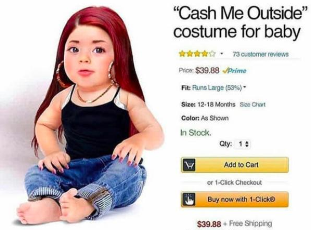 Cash Me Outside baby costume