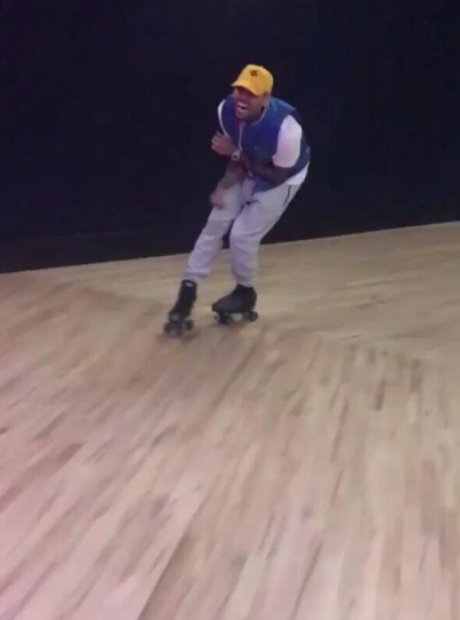 Chris Brown Usher Rollerskate Birthday