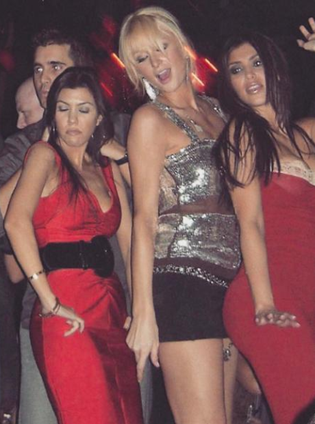 Paris Hilton partying with Kim and Kourtney