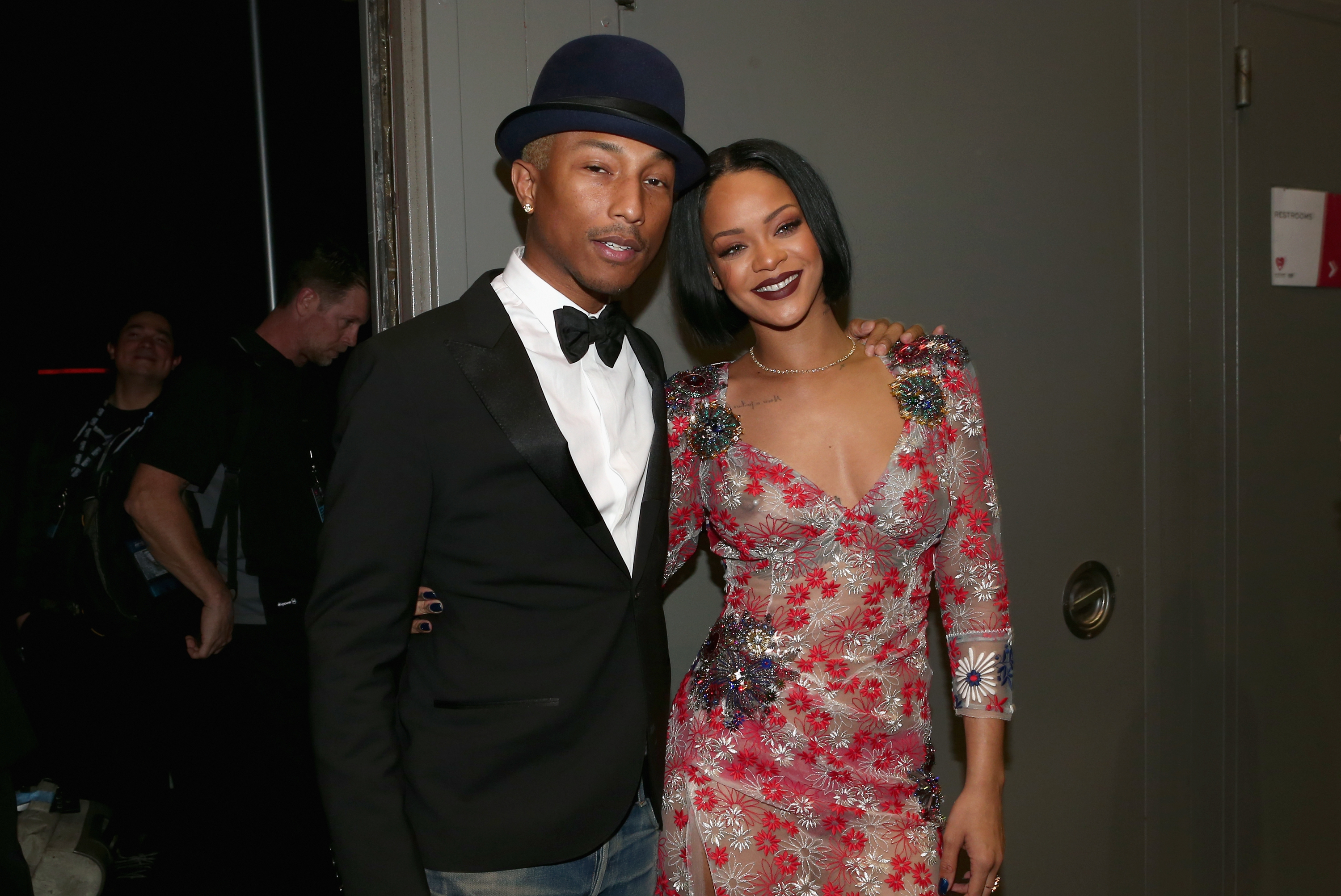 Pharrell Williams and Rihanna