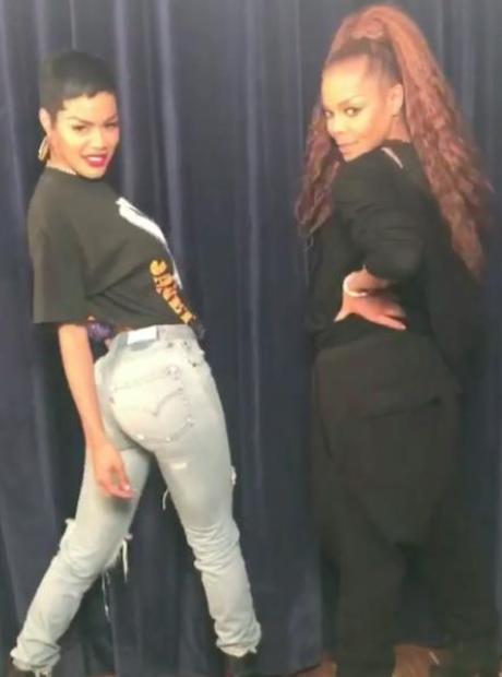 Teyana Taylor and Janet Jackson
