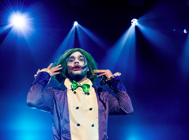 Yungen performing as The Joker
