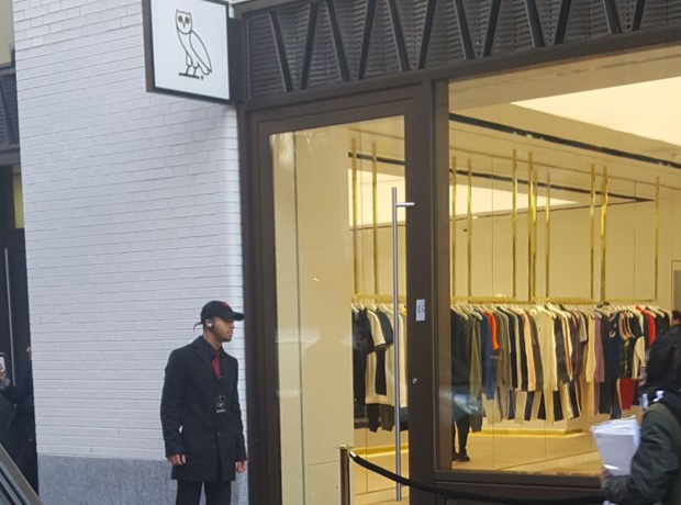 Hundreds Queue For The Opening Of Drake S Ovo London Flagship Store