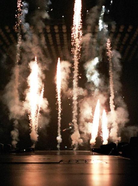 Drake performing in Brisbane