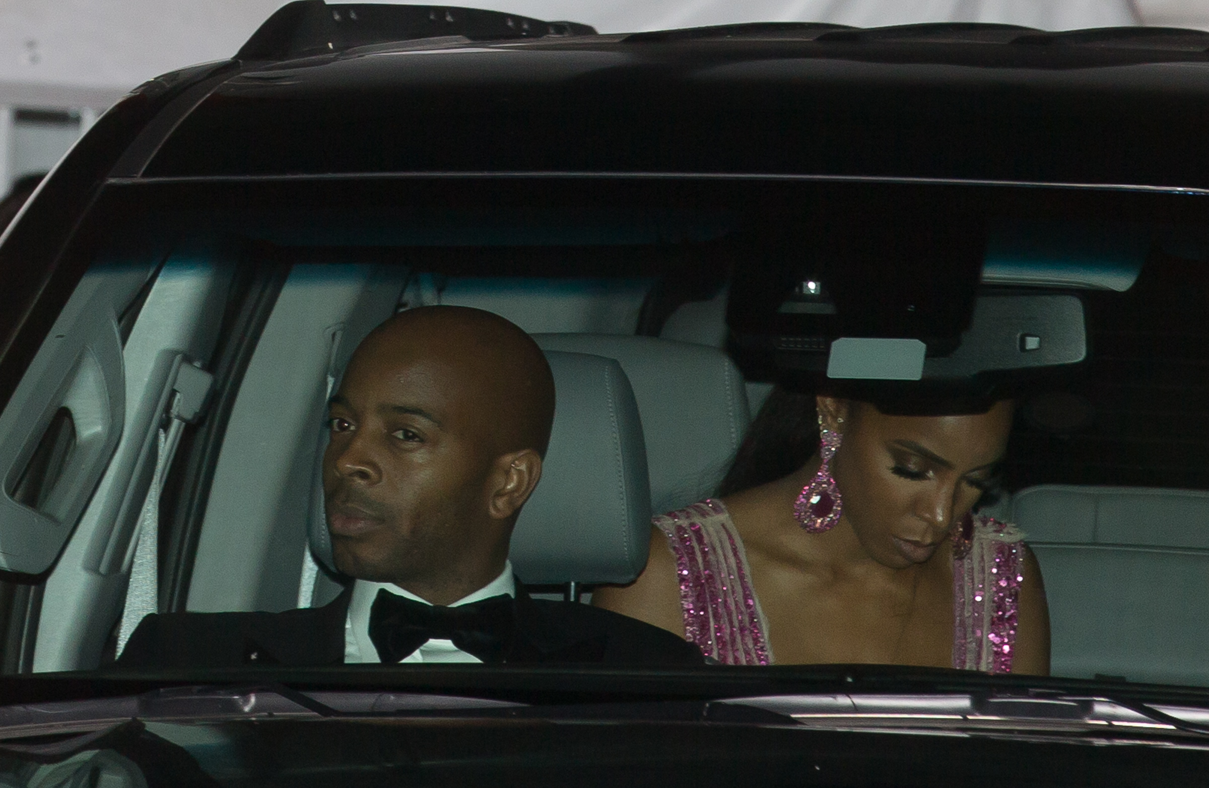 Kelly Rowland arrives for Serena Williams wedding