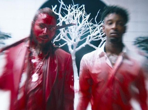 Post Malone & 21 Savage 'rockstar' video