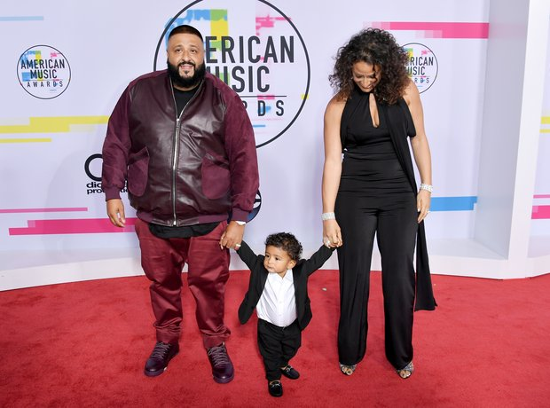 The Khaled family at the AMAs 2017