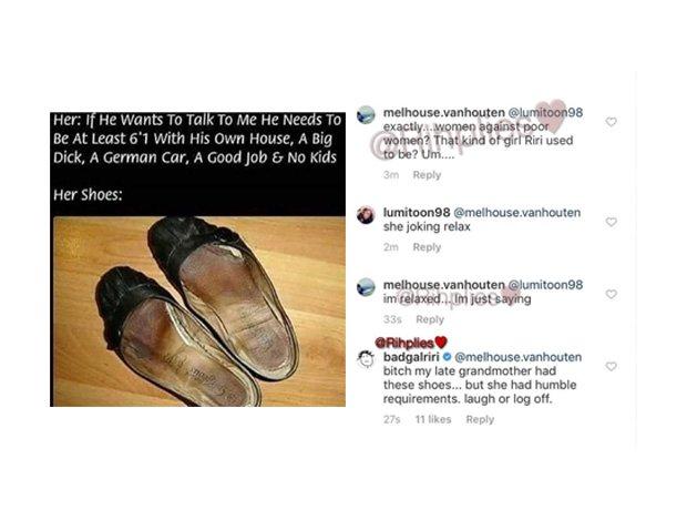 Rihanna Instagram Clapback
