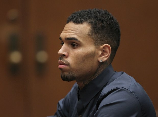 Chris Brown in the courtroom