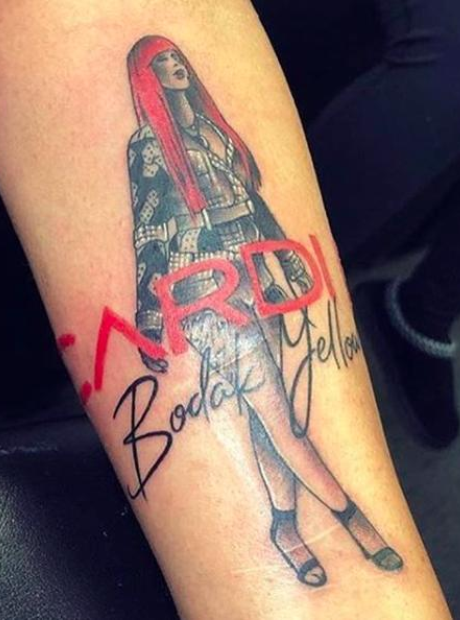 Cardi B S 8 Tattoos Their Meanings: This Dedicated Cardi B Fan Made Their Love Very Permanent