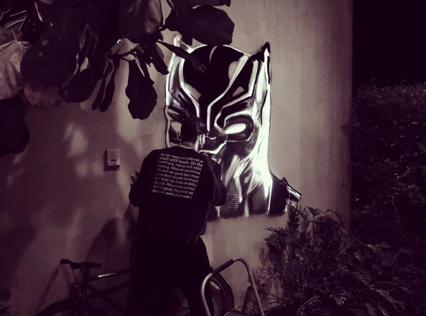Chris Brown Painting Batman On Wall