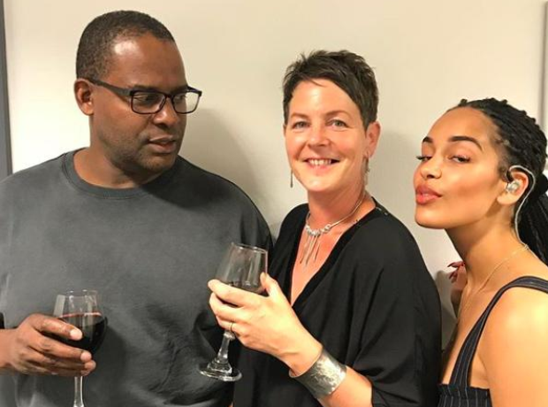 Jorja Smith and her parents